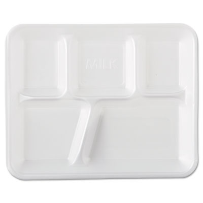 Genpak School Tray Foam Serving Trays, 10 2/5 x 8 2/5