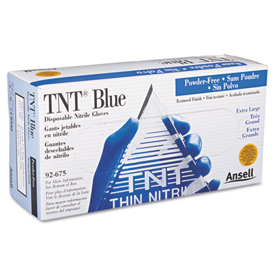 AnsellPro TNT Disposable Nitrile Gloves, Non-powdered,