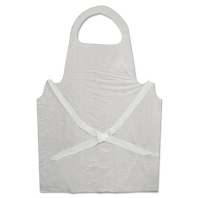 Boardwalk Disposable Apron, Polypropylene, White