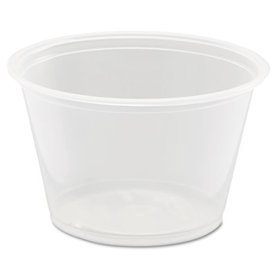 Dart Conex Polypropylene Portion Cup, 4 oz, 125/Bag