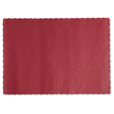 Hoffmaster Solid Color Placemats, 9 3/4 x 14, Fire
