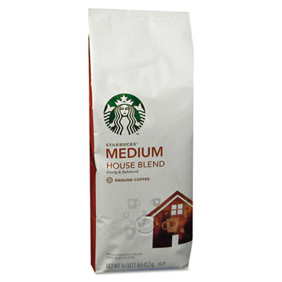 Starbucks Coffee, House Blend, Ground, 1 lb Bag