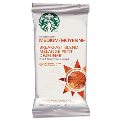 Starbucks Coffee, Breakfast Blend, 2 1/2 oz Packet, 18/Box