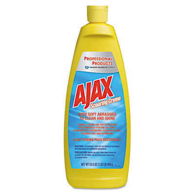 Ajax Scouring Creme Cleanser, Lemon Scent, Cream, 24.5 oz.