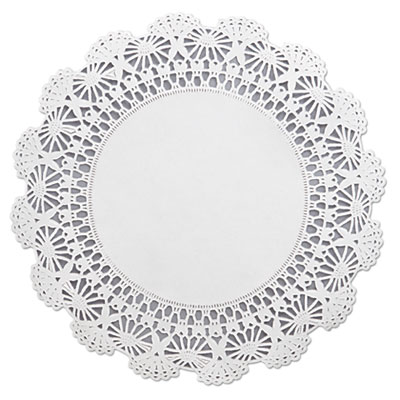 "Hoffmaster Cambridge Lace Doilies, Round, 10"", White"