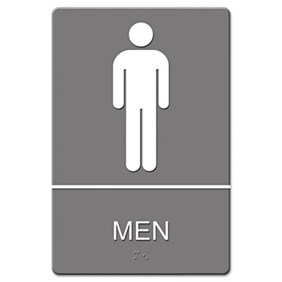 Headline Sign ADA Sign Men Restroom Symbol w/Tactile