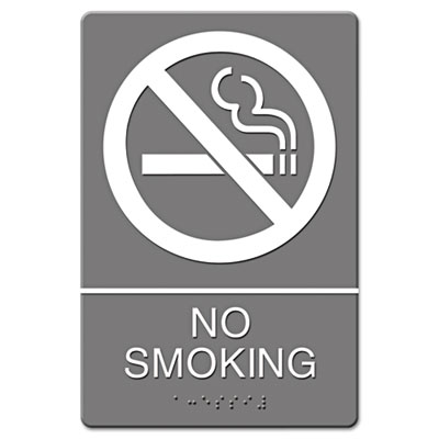 Headline Sign ADA Sign, No Smoking Symbol w/Tactile