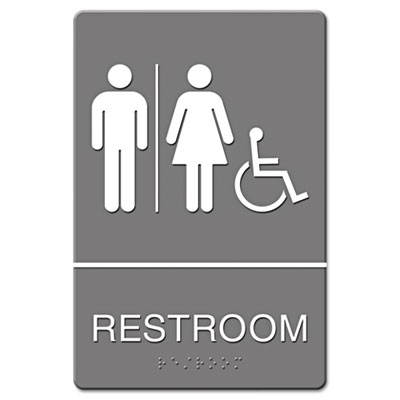 Headline Sign ADA Sign, Restroom/Wheelchair