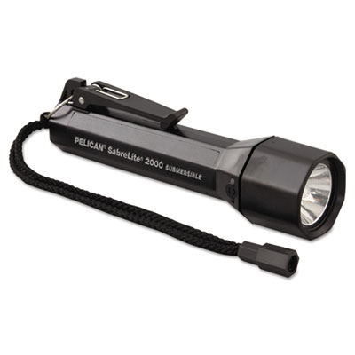 Pelican SabreLite 2000 Flashlight, 3-C, Black