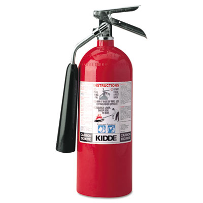 Kidde ProLine Pro 5 CD Fire Extinguisher, 5-B:C, 850psi,