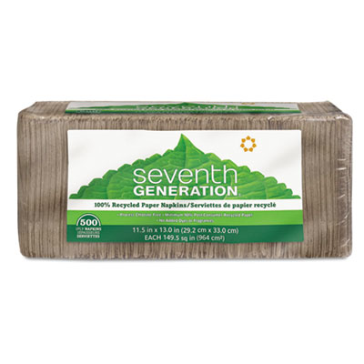 Seventh Generation 100% Recycled Napkins, One-Ply