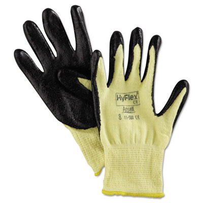 AnsellPro HyFlex 500 Light-Duty Gloves, Size 8,