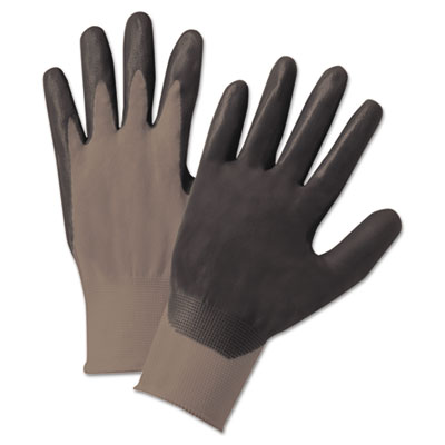Anchor Brand Nitrile-Coated Gloves, Gray, Nylon Knit,