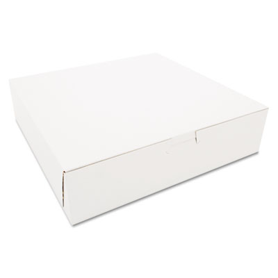 SCT Tuck-Top Bakery Boxes, 10w x 10d x 2 1/2h, White