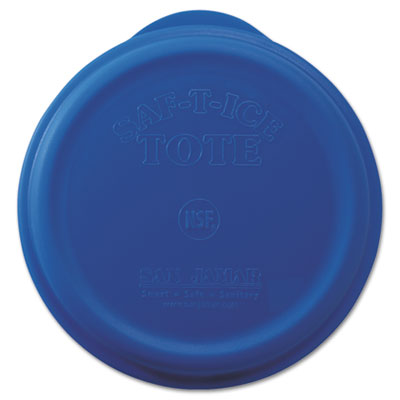 San Jamar Saf-T-Ice Tote Snap-Tight Lid, Blue