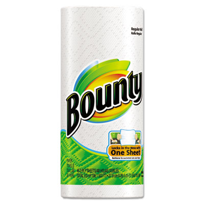 Bounty Regular Roll Paper Towels, 11 x 11, White, 48