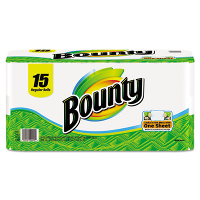 Bounty Perforated Paper Towels,11 x 11, White