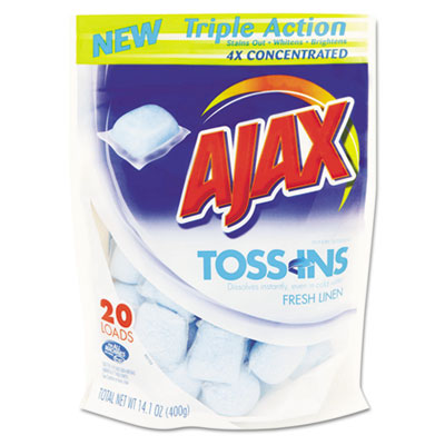Ajax Toss Ins Powder Laundry Detergent, Packets, 4 per