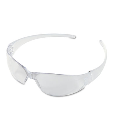 Crews Checkmate Wraparound Safety Glasses, CLR