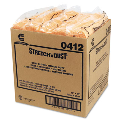 Chix Stretch ?n Dust Cloths, 11 5/8 x 24, Yellow