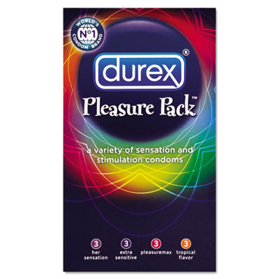 Durex Pleasure Pack Condoms, Assorted