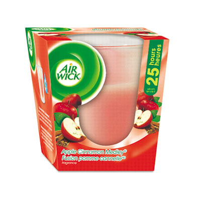 Air Wick Frosted Candle, Apple-Cinnamon Medley, 3oz,