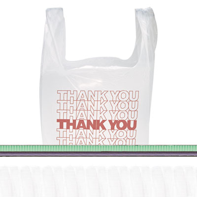Inteplast Group T-Shirt Thank You Bag, 11.5 x 6.5 x 22,