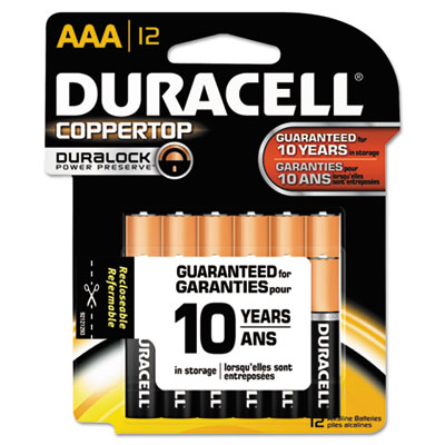 Duracell Coppertop Alkaline Batteries, AAA