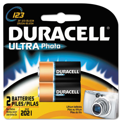 Duracell Ultra High Power Lithium Battery, 123, 3V,