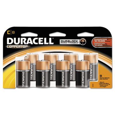 Duracell Coppertop Alkaline Batteries, C
