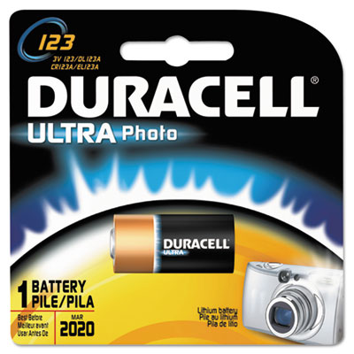 Duracell Ultra High Power Lithium Battery, 123, 3V