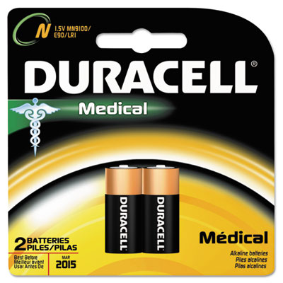 Duracell Coppertop Alkaline Medical Battery, N, 1.5V,
