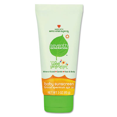 Seventh Generation Baby Wee Generation Sun Screen, SPF
