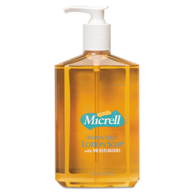 GOJO MICRELL Antibacterial Lotion Soap, 12oz, Pump