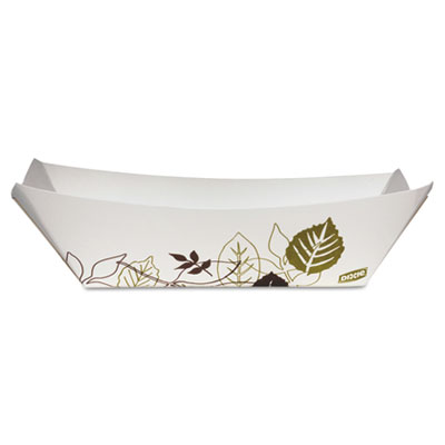 Dixie Kant Leek Polycoated Paper Tray, Green/Burgundy,