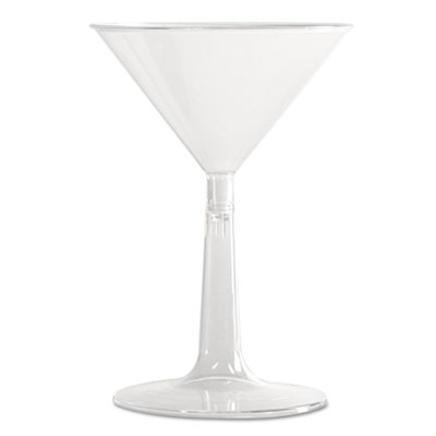 WNA Comet Plastic Martini Glasses, 6 oz., Clear,