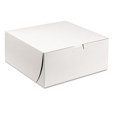SCT Tuck-Top Bakery Boxes, 9w x 9d x 4h, White