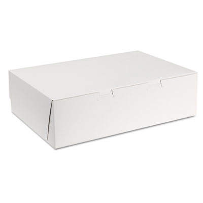 SCT Tuck-Top Bakery Boxes, 14w x 10d x 4h, White