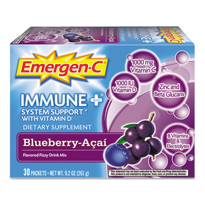 Emergen-C Immune Formula, 0.3 oz, Blueberry Acai