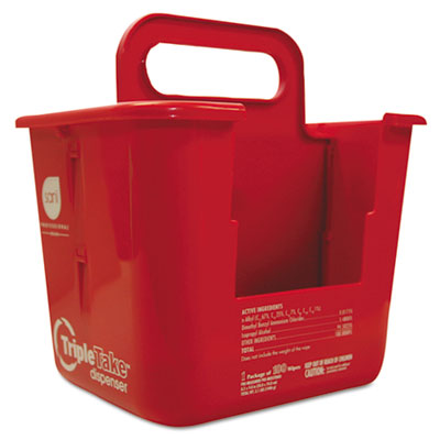 Nice Pak Triple Take Table Turners Wipes Dispenser, Red
