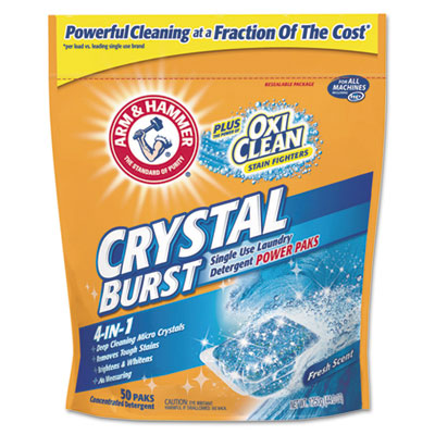 Arm & Hammer Crystal Burst Power Paks, Single Use Packet