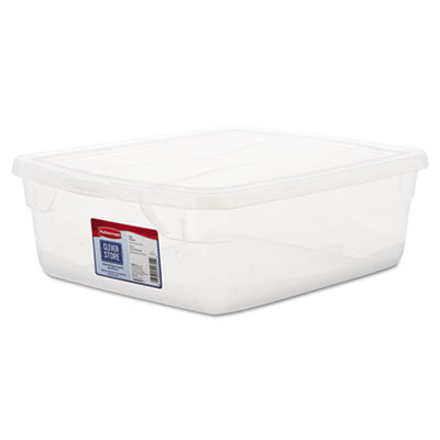 Rubbermaid Clever Store Snap-Lid Container, 3.75gal,
