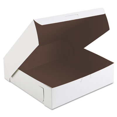 SCT Tuck-Top Bakery Boxes, 9w x 9d x 2 1/2h, White