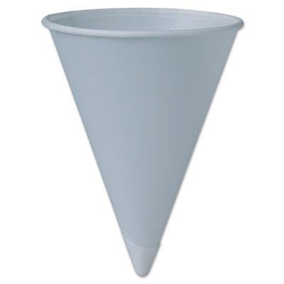 SOLO Cup Company Bare Treated Paper Cone Water Cups, 6 oz.,