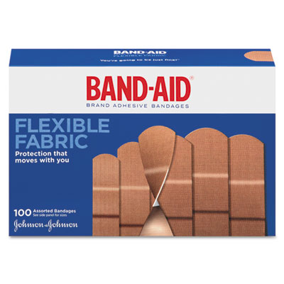 BAND-AID Flexible Fabric Adhesive Bandages,1 x 3
