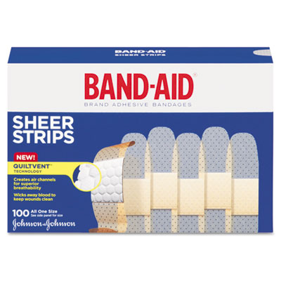 BAND-AID Bandages, 3/4 x 3, Flexible Fabric, Adhesive