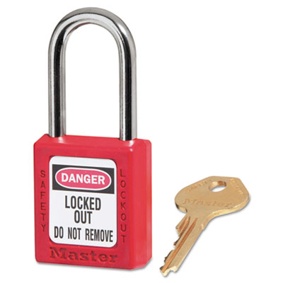 Master Lock Government Locks, Zenex, 1 1/2 in, Red