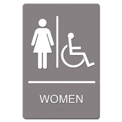 Headline Sign ADA Sign Women Restroom Wheelchair