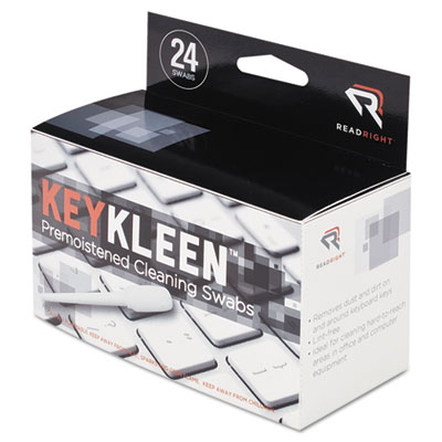 Read Right KeyKleen Keyboard Cleaner Swabs, 24/Box