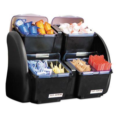 San Jamar The Dome Garnish Center, 4 Compartments,